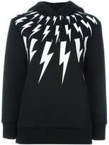 Neil Barrett lightning bolt print hoodie