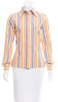 Dolce & Gabbana Pinstripe Button-Up Top