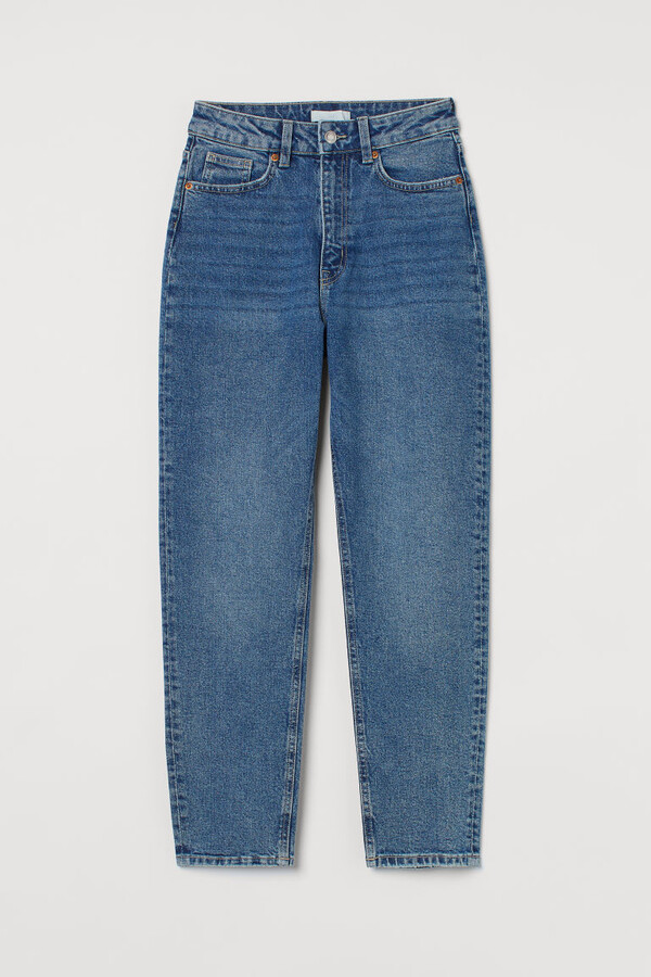 H&M - Slim Mom High Ankle Jeans - Blue