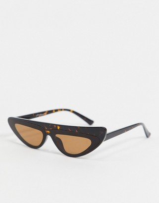Jeepers Peepers brown frame sunglasses