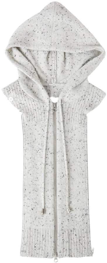 Veronica Beard Hoodie Dickey Speckled Grey