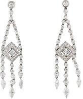 Kwiat 18K Princess Cut Diamond Earrings