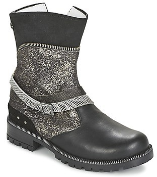 Ikks ROBERTA girls's Mid Boots in Black