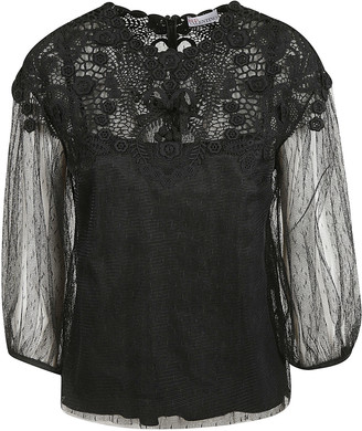 RED Valentino Laced See-through Sleeve Shirt