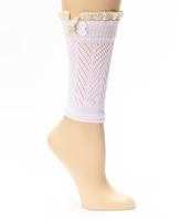 Pink Lace-Trim Boot Cuffs