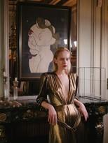Thumbnail for your product : Maria Lucia Hohan Zaila Metallic Jersey Midi Dress