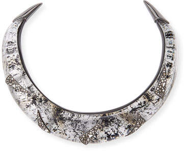 Alexis Bittar Liquid Medium Collar Necklace with Crystal Shard Detail