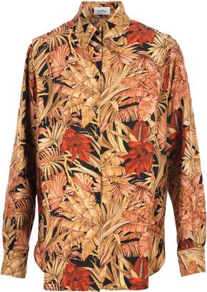 Salvatore Ferragamo Foliage Print Shirt