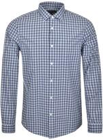 Michael Kors Shane Check Shirt Blue