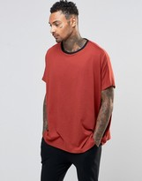 Asos Loungewear Extreme Oversized T-Shirt In Rust