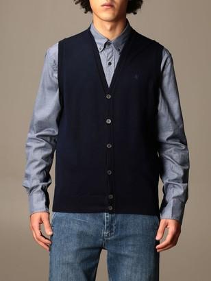 Brooksfield Basic V-neck Vest With Embroidered Logo