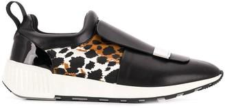 Sergio Rossi Leopard Print Running Sneakers