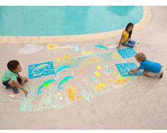 HearthSong Chalkscapes Under-The-Sea Chalk Stenciling Set