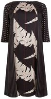 Marina Rinaldi Contrast Printed A-Line Dress