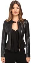 Versace Leather Jacket Women's Coat