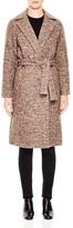 Sandro Belted Flecked Coat