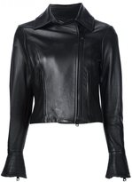 Carolina Herrera leather motorcycle jacket