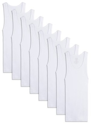 Fruit of the Loom Boys Undershirts White A-Shirts, 5+3 Bonus Pack, Size S-XL