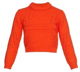 Tibi Pointelle cropped sweater