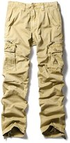 OCHENTA Men's Casual Sports Outdoors Military Cargo Pants Khaki Lable Size 33 (US Size 32)