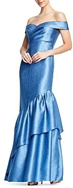Aidan Mattox Off-the-Shoulder Mermaid Gown