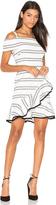 Rebecca Vallance Jupiter Ruffle Mini Dress