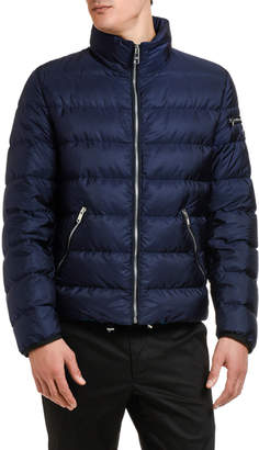 Prada Men's Zip-Front Nylon Puffer Jacket