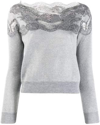 Ermanno Scervino lace embellished sweatshirt