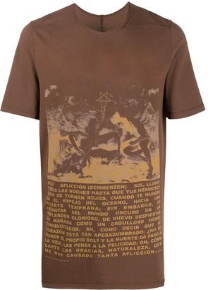 Rick Owens slogan graphic print T-shirt