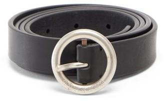 Maison Margiela Round-buckle Leather Belt - Black