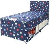 Airsprung Stars And Butterflies Small Single Kids Storage Divan With FREE Headboard
