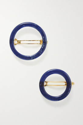 Cult Gaia Ria Set Of Two Acrylic Hair Clips - Midnight blue