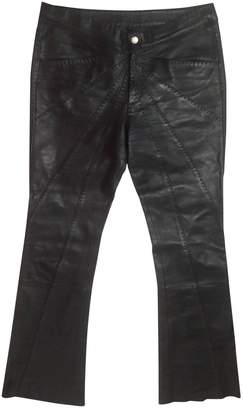 Catherine Malandrino Black Leather Trousers for Women