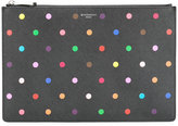Givenchy polka-dot clutch - women - Cotton/Polyester/Polyurethane - One Size