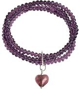 Murano Martick 4 Row Heart Bracelet