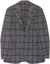 Ring Jacket Houndstooth check plaid wool-silk blazer