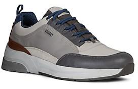 Geox Men's Rockson Waterproof Lace-Up Sneakers