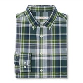 Merona Men's Plaid Button Down Shirt Blue/Green