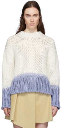 Acne Studios Off-White Wool Dip-Dyed Sweater
