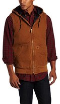 Carhartt Men's Sandstone Hooded Active Vest Quilt Lined