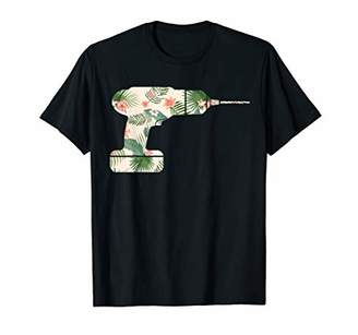 Driller Flower Funny Costume Halloween Silhouette Floral T-Shirt