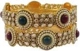 Matra Goldtone Screw Lock Ethnic Designer Bangle Set 2 Pcs Kada Bracelets Jewelry