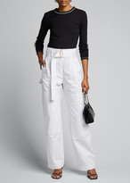 Dion Lee Cotton Cargo Belted Pants