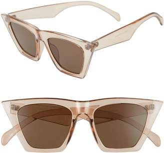 BP 48mm Square Cat Eye Sunglasses