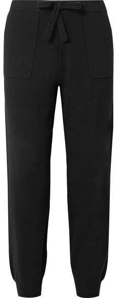 Allude Wool And Cashmere-blend Track Pants - Black
