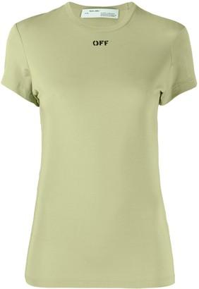 Off-White logo-print slim T-shirt