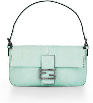 Fendi Python Baguette Shoulder Bag