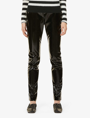 Victoria Beckham Slim-leg high-rise PVC trousers