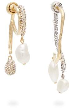 Givenchy Moonlight Pearl Mismatched Earrings - Womens - Silver Gold