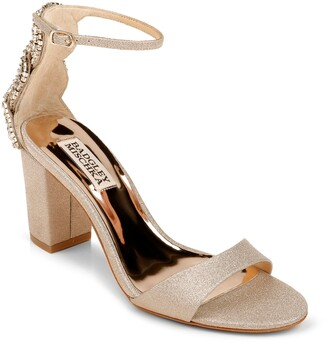 Badgley Mischka Zabella Embellished Ankle Strap Sandal